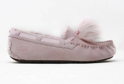 56f8980df8b UGG WOMEN'S DAKOTA Pom Pom Moccasin Slippers 1019015 Seashell Pink