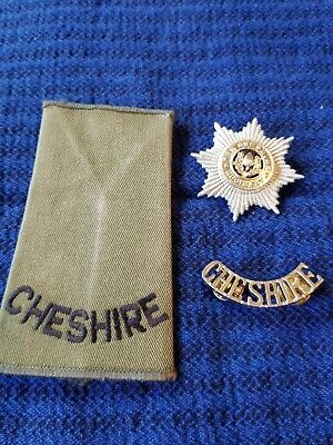 3 Military British Royal Army Wwii   Cheshire Regiment Items
