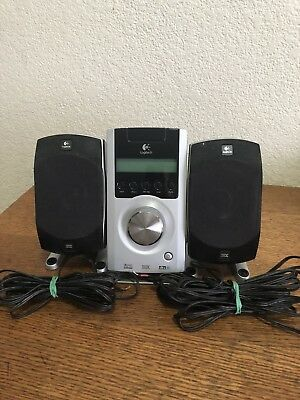 Logitech Z-5500 THX 5.1 Control Pod + Two Speakers & Wires PID R-726