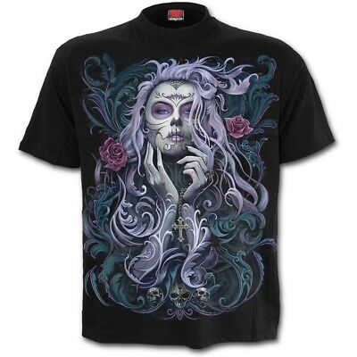 SPIRAL DIRECT ROCOCO SKULL T-Shirt/Biker/Angel/Wings/Gift/Crucifix/Tattoo/Top