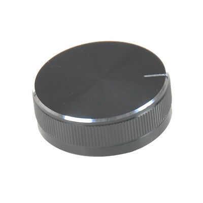 1PC Black Aluminum Volume Control Knob Amplifier Wheel 30*10mm RS