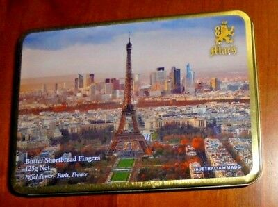 Mac's Biscuit Tin ~ Eiffel Tower- Paris, France pictured... Made in Australia