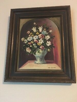 Original Antique Oil On Board Painting, Vintage Art Stan Williams Signed
