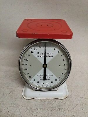 Vintage Antique American Family Kitchen Scale 25 pound,Works!
