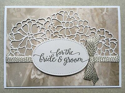 Handmade Card | Stampin Up | Wedding | For the Bride & Groom | White & Silver