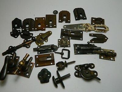 Old and antique Reclaimed Latches and latch covers. Odds and ends