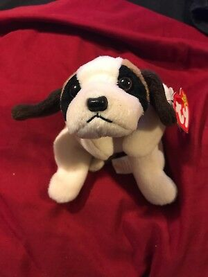 Ty Beanie Baby Bernie the St. Bernard Plush Stuffed Bean Bag Dog 1996