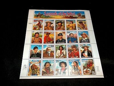 US # 2869 (1994) 29c - MNH - VF/XF - Legends of the West - Sheet of 20 STAMPS