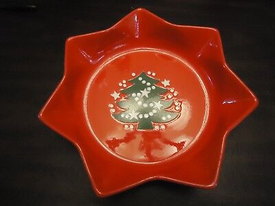 """Waechtersbach Christmas Holiday Tree 10"""" Star Bowls Excellent used condition"""