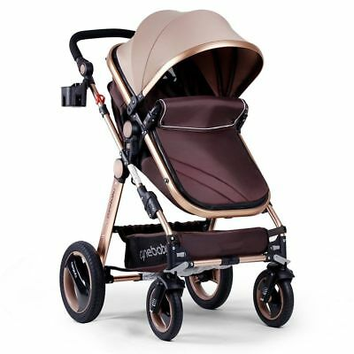 Infant Baby Stroller for Newborn and Toddler - Cynebaby Convertible Bassinet Str