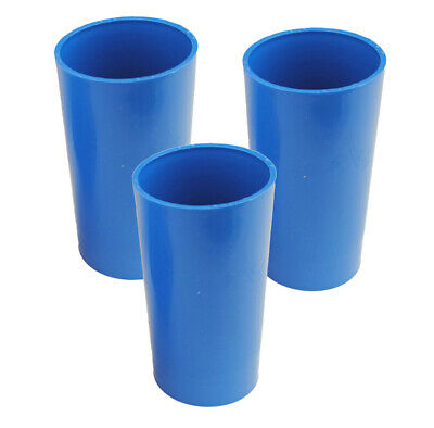 """Proops Set x 3 Seamless Pillar Shaped Candle Moulds 4 1/2"""" Long 2"""" Dia. S7588"""