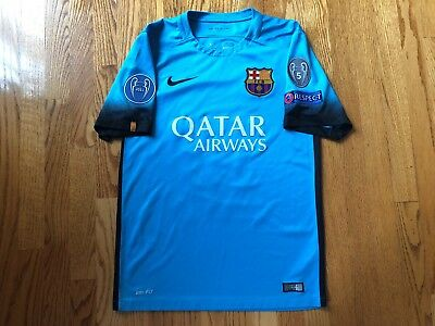0a5af9572 Authentic Nike 2015 2016 Lionel Messi FC Barcelona Third Night Dri-Fit  Jersey S