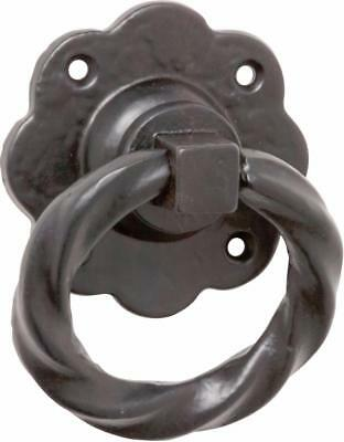 black cast iron gate or barn door ring pull,gothic twisted ring TH1869