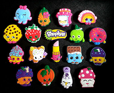 18 Shopkins Croc Shoe Charms Jibbitz Crocs Strawberry Kiss Apple Blossom