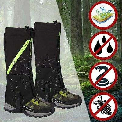 Outdoor Hiking Hunting Snow Sand Snake Waterproof Boots Cover Legging Gaiters @U