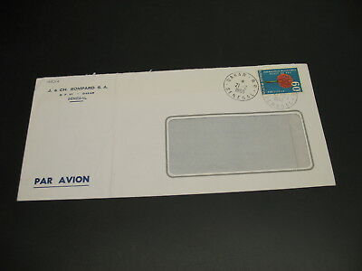 Senegal 1969 airmail cover to Finland fold *16837