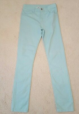 Girl's trousers, H&M, mint green, age 14, worn once, skinny