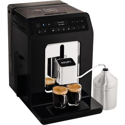 Krups EA893840 Evidence Bean to Cup Coffee Machine 1450 Watt 15 bar Black