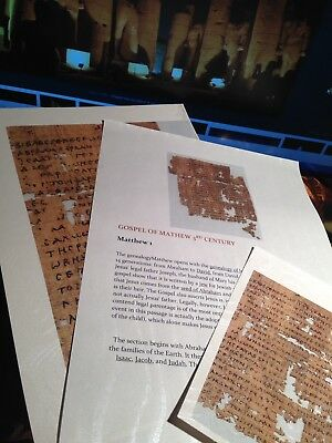 Papyrus   Gospel of Matthew 3 rd Century- GIFT COLLECTION  NEW