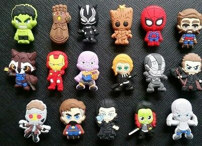 17 Avengers 3 Shoe Charms for Croc Jibbitz Crocs Infinity War Guardians