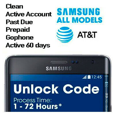 Factory Unlock Codes for Samsung AT&T USA – Premium FAST Service AT&T service