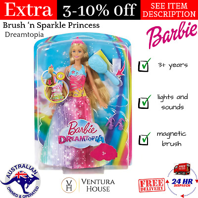 Barbie Dreamtopia Fairy Rainbow Cove Doll w/ 2 Butterfly Flying Wings for girls