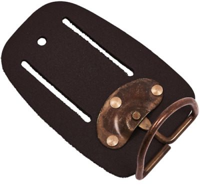 Heavy Duty Hammer Holder Tan Leather Tool Belt Swivel  Holster