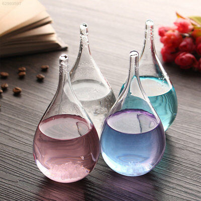 43DC Weather Forecast Colorful Crystal Bottle Drop Water Shape Storm Glass home