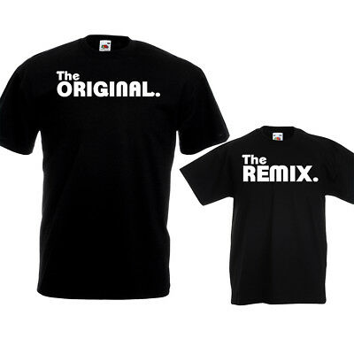 The Original Remix T Shirts Dad Kids Fathers Day Birthday Christmas Gift Set Top