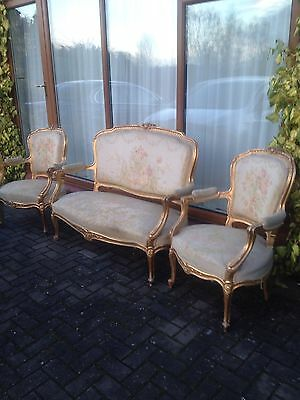 Genuine French Gold Gilted 3 Peice Parlour Suite! REDUCED!!! By £300
