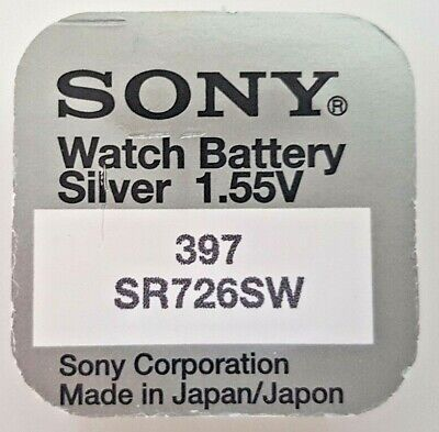 SONY 397 SR726SW BATTERY BATTERIES SILVER OXIDE WATCH COIN CELL x 1 2 3 4 5 10