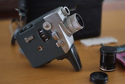 Canon Motor Zoom 8 EEE, 8mm Camera with Wide Angle Extension and original case