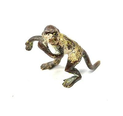 Antique Austrian Cold Painted Bronze Miniature  Monkey In The Style Of Bergman