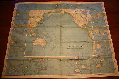 VINTAGE NATIONAL GEOGRAPHIC Pacific Ocean Map, 1936 on tahiti map pacific, garbage island pacific, war in pacific, world war ii pacific, world map pacific, silestone pacific,