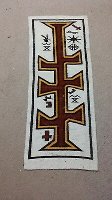 Hand Woven Table Altar Cover Runner Ethnic Symbolism Comes From An Old Church