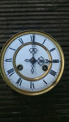 Vienna Wall Clock Spring Driven Movement,  Dial, Assembly