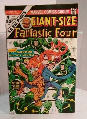 Giant Size Fantastic Four #4 (1974) 6.0 FN Wein/Claremont/Buscema - 1st Madrox