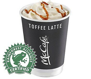 Mcdonalds coffee stickers Vouchers 31/12/19 100 Stickers 15+ Cups loyalty