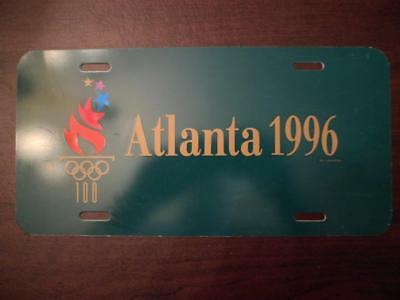 Atlanta 1996 Olympic Flame Plastic Front License Plate