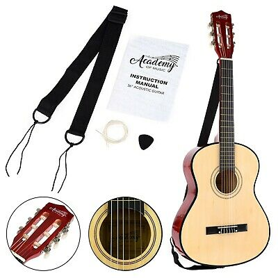 """Toyrific 3/4 Size 36"""" Academy of Music Acoustic Guitar for Beginners Kids Adults"""