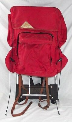 Kelty vintage hiking backpack with external frame Size L red