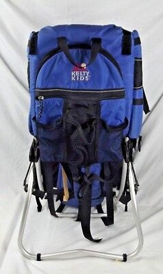 Kelty Kids Elite Child Backpack Carrier Blue Hiking Camping Infant