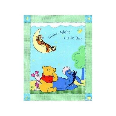 "Disney WINNIE The POOH Fabric Cotton Large Craft Quilting Panel Licensed 35""x44"""