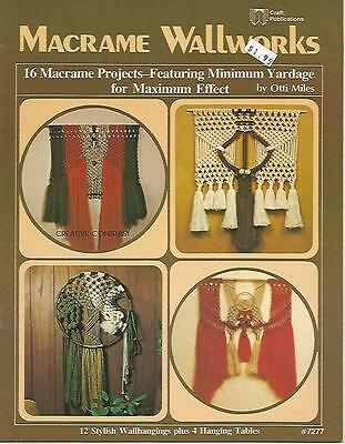 Macrame Wallworks Otti Miles 12 Wallhangings 4 Hanging Tables Patterns USED