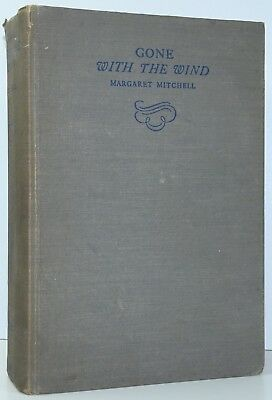 MARGARET MITCHELL Gone With The Wind 1ST ED SECOND PRINTING June 1936 b
