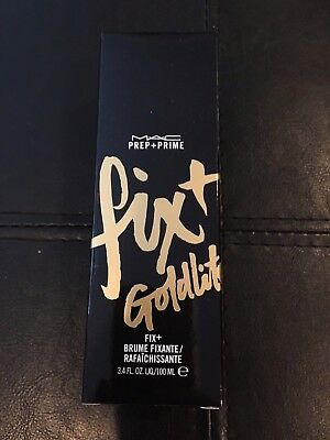 Mac Goldlite Fix+ Fix Plus Makeup Setting Spray 3.4 Fl. Oz Bnib!!