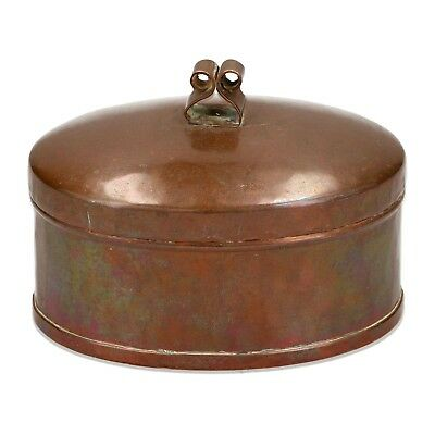 An E W Asplind Arts and Crafts copper box Rattvik Sweden
