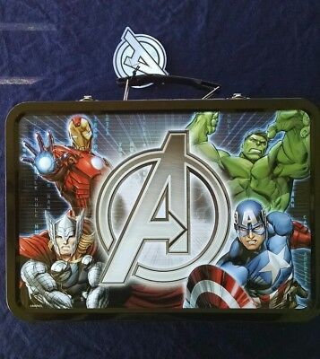 Official Marvel 2014 Avengers Four Coin 1 oz. Silver Lunch Box Set Matching # 's