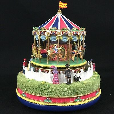 VTG 1997 Liberty Falls Americana Collection Musical Carousel Comes to Town AH444