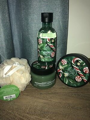 The Body Shop Peppermint Candy Cane Christmas Gift Set New 24 99